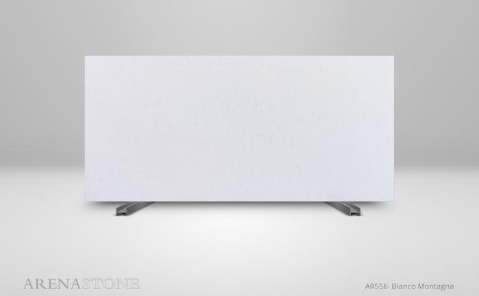 AR556 Arenastone Bianco Montagna - slab shot - engineered quartz