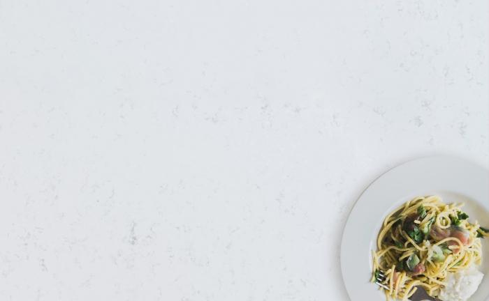 Arenastone Bianco Montagna - prop shot - pasta