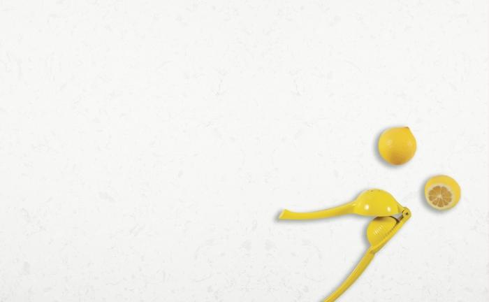 Arenastone Bianco Tura - prop shot - lemon squeezer
